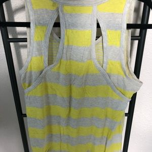 CAbi Tops - Grey and Yellow Striped Tank